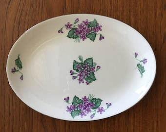 Homer Laughlin Plate Rhythm Purple Violets Woodland China Pattern