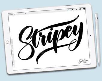 Custom Procreate Brush: Stripey