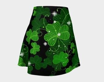 10 dollars off!, St. Patrick's day skirt, 4 leaf clover skirt, lucky skirt, leprechaun, green skirt, Irish skirt