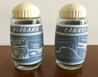 Niagara Falls- Canada Salt and Pepper Shakers- Blue and White