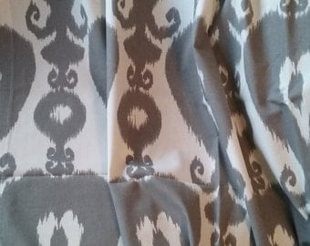 Gray curtains, Window curtains, bedroom curtains, curtain panel, gray and cream, gray decor