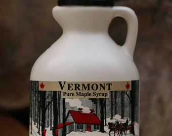 1 Pint Organic Pure Vermont Maple Syrup,  Made in Vermont USA, Free Shipping - Jug