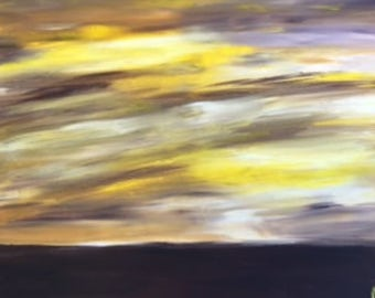 """Other Wordly Atmosphere - art wall décor acrylic painting, 20""""x24"""" canvas stretched/wrapped on 5/8"""" bars"""