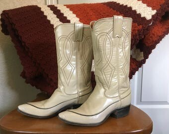 Vintage 70's Justin brand Cowgirl Boots sz 4AA