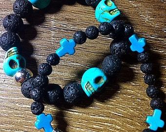 Skull n cross bracelets