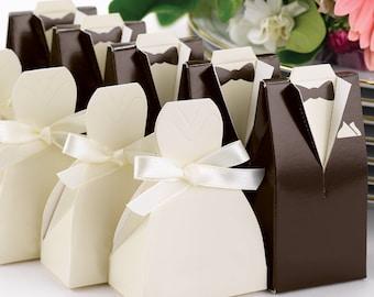 Gown/Black Tuxedo Favor Boxes