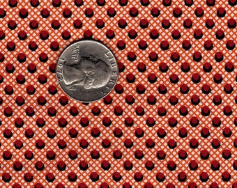 Authentics by F&Z for SSI 1830's - 1860's Reproduction Red Circles on Orange  Fat Quarter