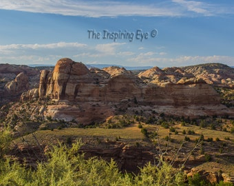 Landscape Photography Print,Utah, State Byway 12, Evening Sun, Shadows,