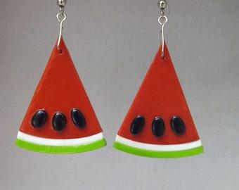 Pending watermelon / Watermelon Earrings