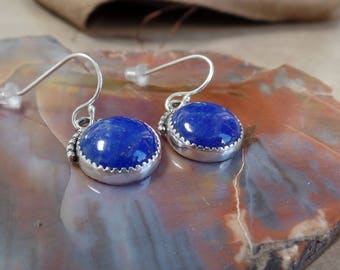 Lovely Denim Lapis Earrings 1249