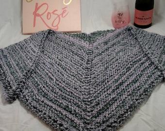 Chunky Lace Knit Scarf/Shawl and Braided Headband