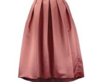 Pleated skirt long stylish gift