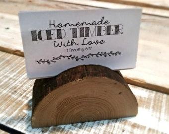 Reclaimed wood buisness card holder, recipe holder, recipe easel, calandar easel, wedding place card holder, reclaimed wood easel