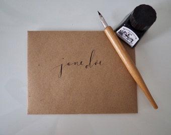 Custom Calligraphy Envelopes (Optional Mailing and Return Addresses)