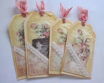 Hand made vintage style tag set 12