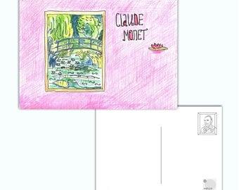 Impressionists postcard #2 (Monet)