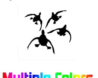 Geese Hunting sticker - Flying Goose Duck durable outdoor vinyl decal