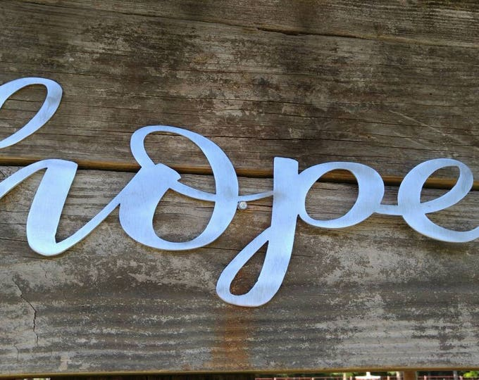 Hope Sign, Farmhouse Decor, Hope Wall Art, Rustic Signs, Hope, Home Decor, Metal Words, Farmhouse Sign, Wall Decor, Word Signs, Wall Hanging