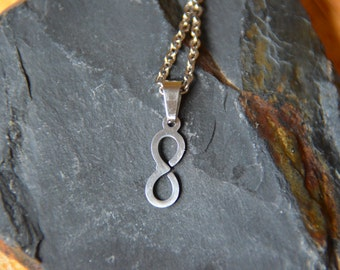 Stainless Steel Necklace with Infinity Charm