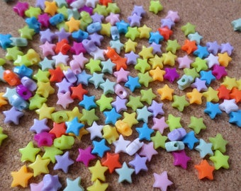 Acrylic star beads, Acrylic beads, Star beads, Jewellery making, Craft beads, Beads, Star, Multicolour