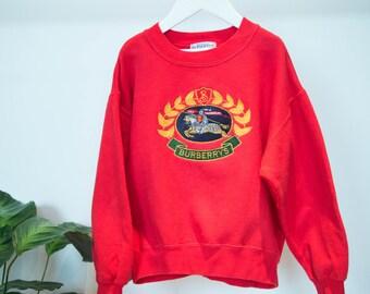 BURBERRY Kid's Vintage Red Sweatshirt
