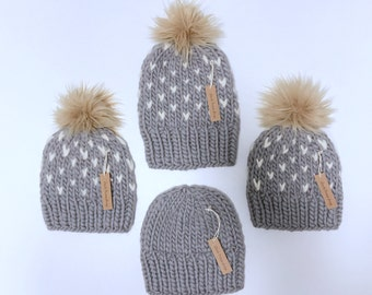 Chunky knit toque - toddler/kids