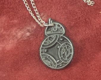 star wars inspired bb8  pendant