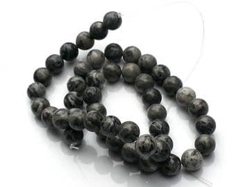 Scenery jasper beads - jasper beads - 8mm beads - round beads - gemstone beads