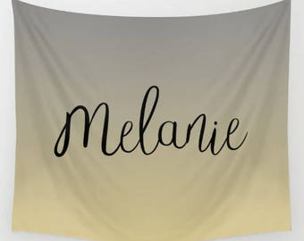 Personalized Wall Decor Bedroom, Coral Wall Art Tapestry Wall Hanging, Custom Tapestry Wall Art Prints, Rose Gold Home Decor Wall