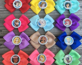 Disney Princess Bows / Princess Bows / Disney Bows