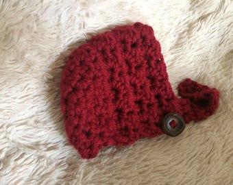 Rose Bonnet **PATTERN ONLY** Baby Bonnet, baby hat, bonnet, chunky baby bonnet