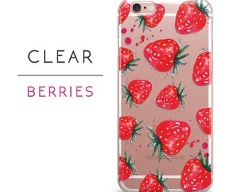 iPhone 7 case strawberry iPhone 7 plus case clear iPhone 6s case fruit iPhone 6 plus case iPhone case iPhone 6 case iPhone 5s,6s plus,a15