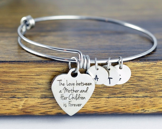 The Love Between A Mother and Her Children Are Forever - Mothers Bracelet - Mothers Day Gift - Mothers Jewelry - Gifts For Mom - Mom Gift