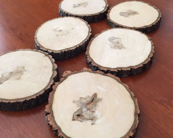 Wooden Drink Coasters Set of Six