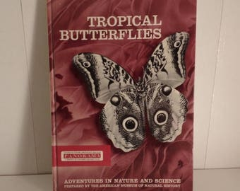 Tropical Butterflies Illustrated Book W/Slides & Narrating Record