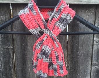 Keyhole Scarf; Scarf; Crochet Keyhole Scarf; Fall Fashions; Neck Warmer; Pull Through Ascot; Women's Scarf; Warm Winter Scarf; Gift for Her