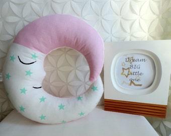 Moon Pillow - Nursery Pillow - Moon Cushion - Children Pillow - Baby Shower Gift - Nursery Decor - Decorative Pillow - Stuffed Moon - Kids