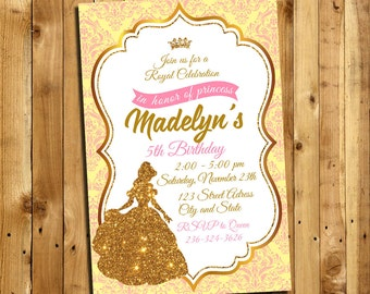 Beauty and the Beast Invitation, Beauty and the Beast Birthday, Beauty and the Beast party, Beauty and the Beast Thank You Card | MSBE_4