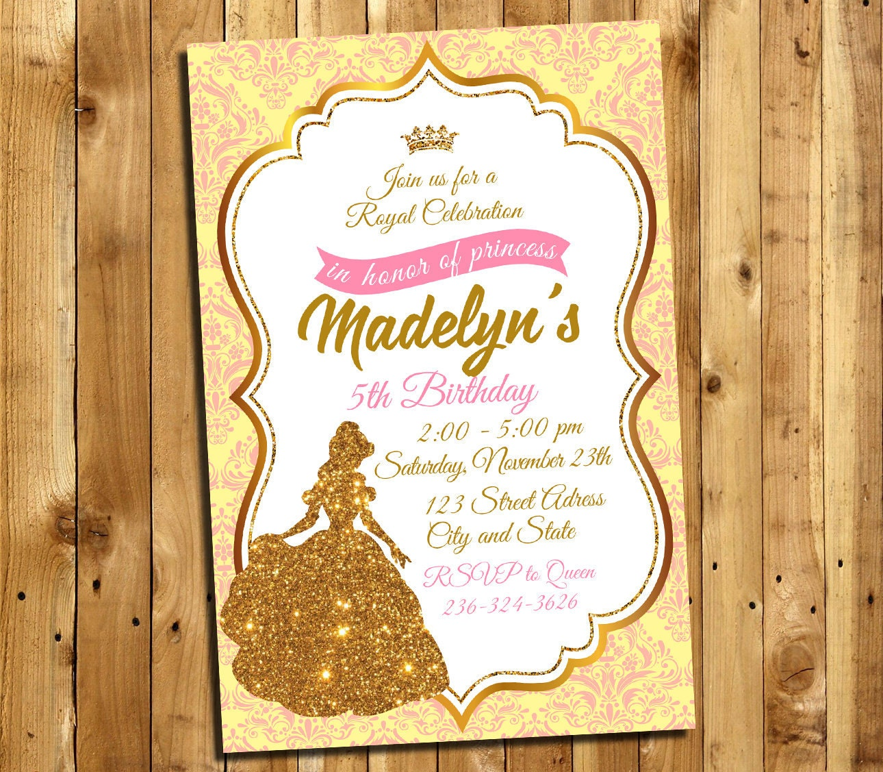 Beauty and the beast invitation beauty and the beast for Beauty and the beast wedding invitation template free