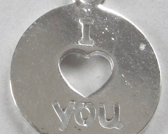 Silver Medal I love you - 16 mm