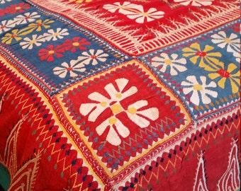 Rare Vintage  Banjara Textile, Indian Gypsy Textile, Appliqué vintage Textile, Vintage Baby Rocker