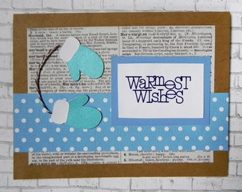 Winter Wishes card, Christmas card, Holiday card, Handmade card