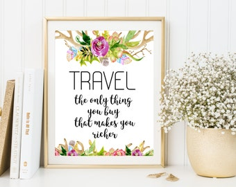 Travel definition, definition print, travel is the only, travel poster, travel quotes, define travel, travel digital print