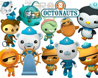 50 Octonauts Disney Junior Digital Clipart For Instant Download Package 300DPI - Printable Iron-on
