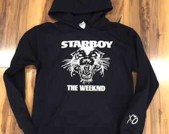 The Weeknd Starboy Hoodie (White-Print)