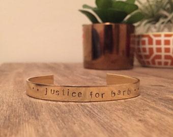 Justice for Barb, Stranger Things Bracelet, Stamped Bracelet, Stranger Things, The Upside Down, Friends Don't Lie