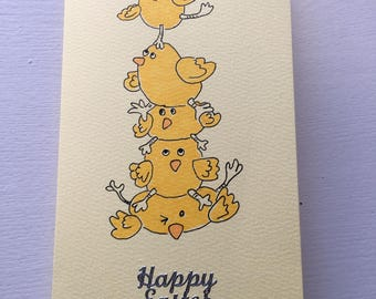 happy Easter - Hand drawn Card