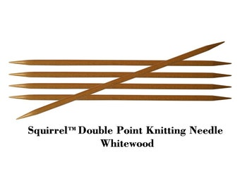 "Squirrel 7"" Long Premium Wooden Double Point Knitting Needle - 5pcs/set"