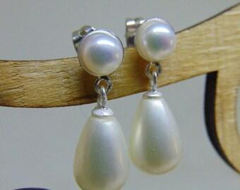 Kate Middleton Inspired Double Pearl Earrings