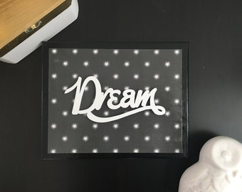 Dream - Canvas Sign, Wall Decor, Nursery Decor, Gallery Wall, Kids Room Decor, Baby Shower Gift, Graduation Gift, Dorm Decor, Office Decor